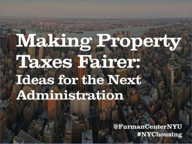 Making Property Taxes Fairer