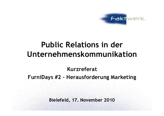 Furnidays#2 pr+reputation in der unternehmenskommunikation