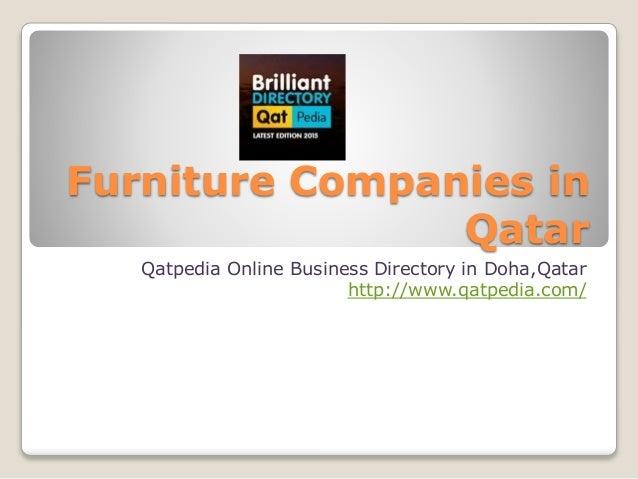 Furniture companies in qatar for Home furniture suppliers in qatar
