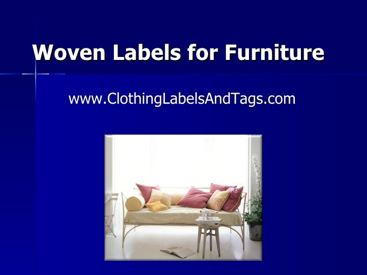 Furniture Labels Can Tell A Story