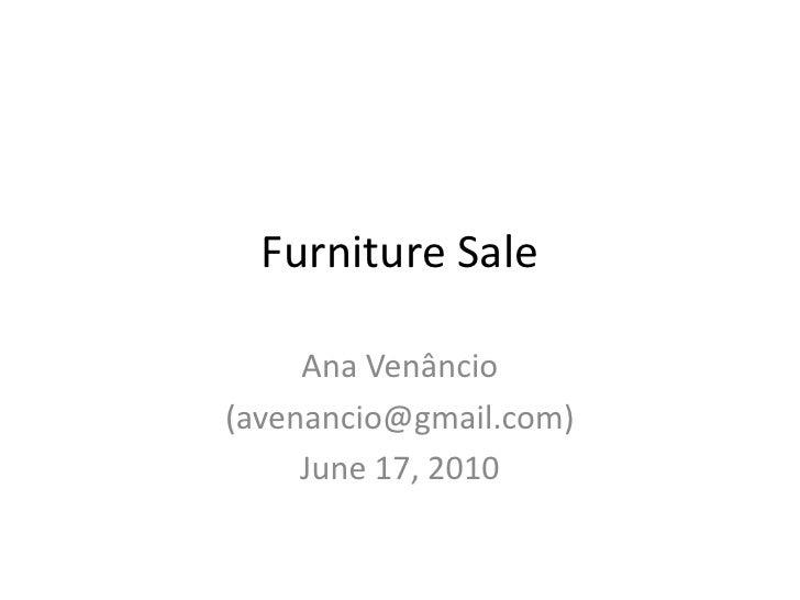 Furniture sale17 jun