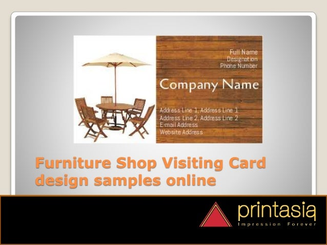 Furniture Shop Visiting Cards Designs