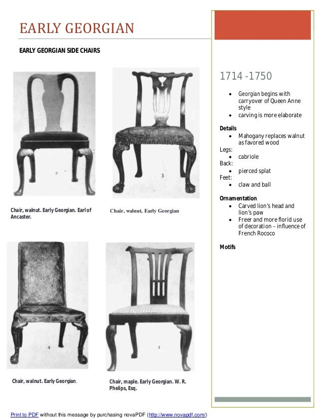 Chippendale side chair - Early Georgian Early Georgian Side Chairs 1714 1750 Georgian Begins