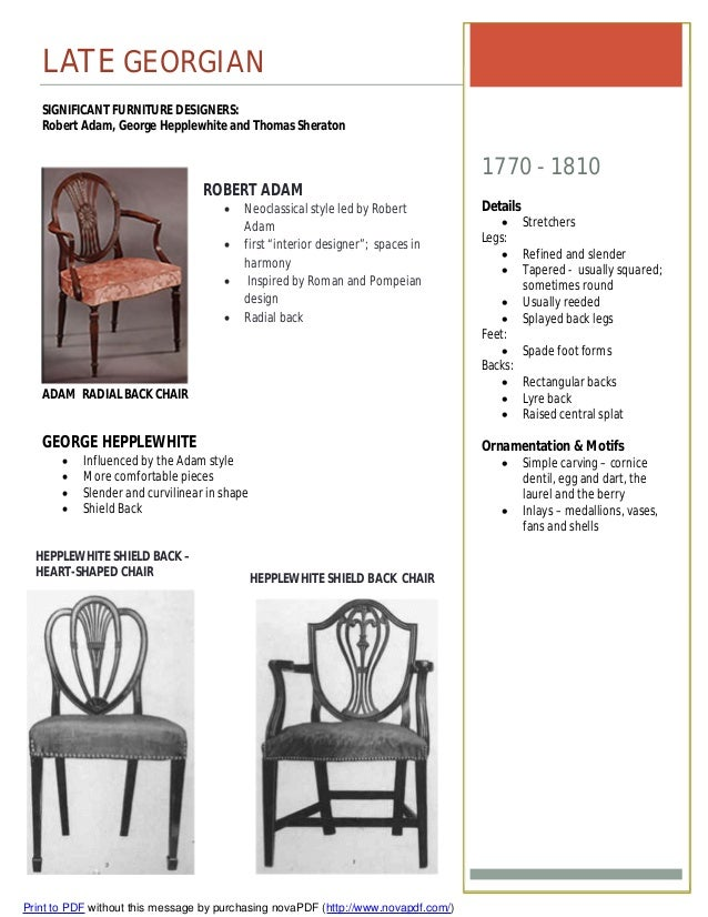 Furniture Timeline Assignment