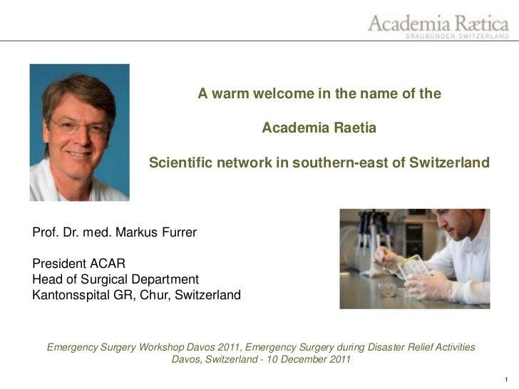 Academica Raetia Welcome Address
