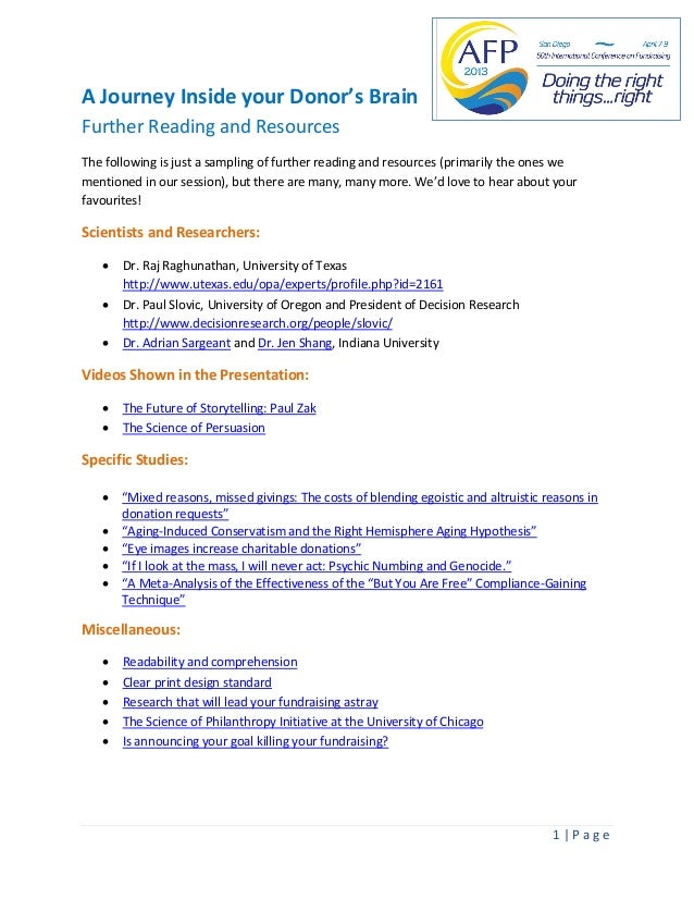 #AFPBrains: Further reading and resources
