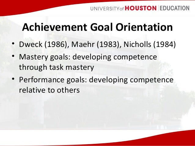 goal orientation Goals and learning outcomes new student orientation is designed to introduce new suny cortland students to the primary goals of the orientation program are.