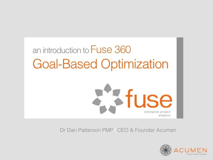 an introduction to Fuse 360Goal-Based Optimization                                      enterprise project                ...