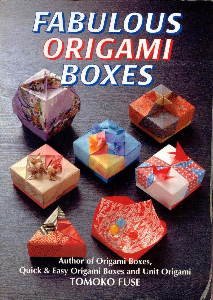 Tomoko Fuse Hexagon Box Instructions : Origami boxes by tomoko fuse