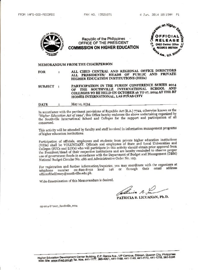 CHED Endorsement for Fusion '14: Changing Libraries & Info-EDUTAINMENT