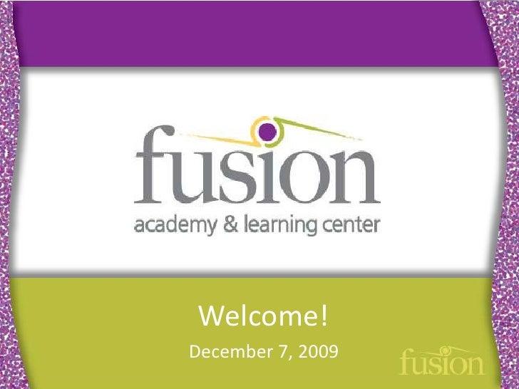 Welcome!<br />December 7, 2009<br />