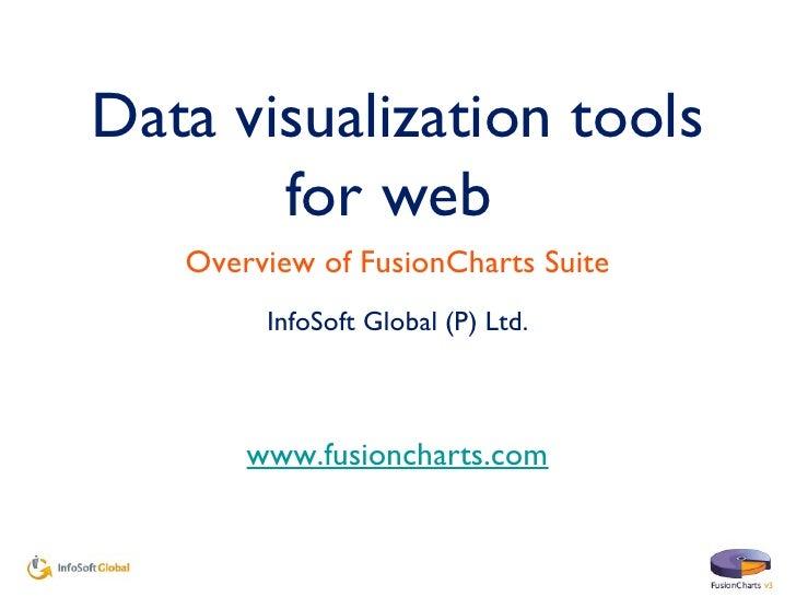 Data visualization tools for web  <ul><li>InfoSoft Global (P) Ltd. </li></ul>www.fusioncharts.com Overview of FusionCharts...
