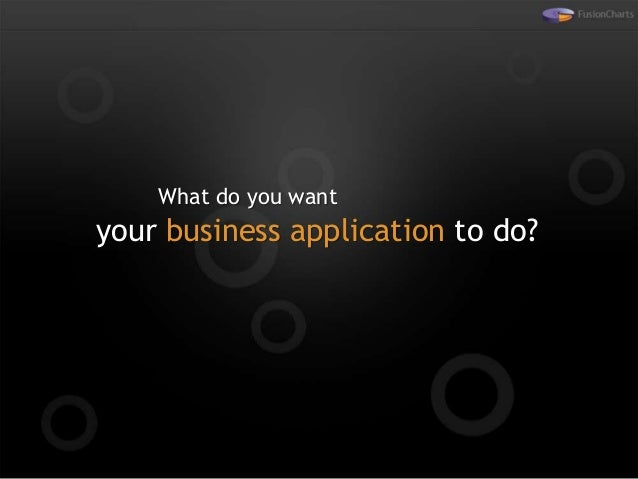 What do you want your business application to do?