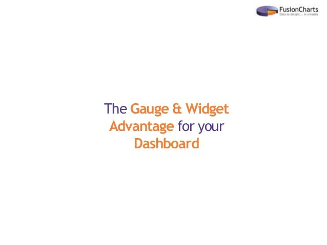 The Gauge & Widget Advantage for your Dashboard