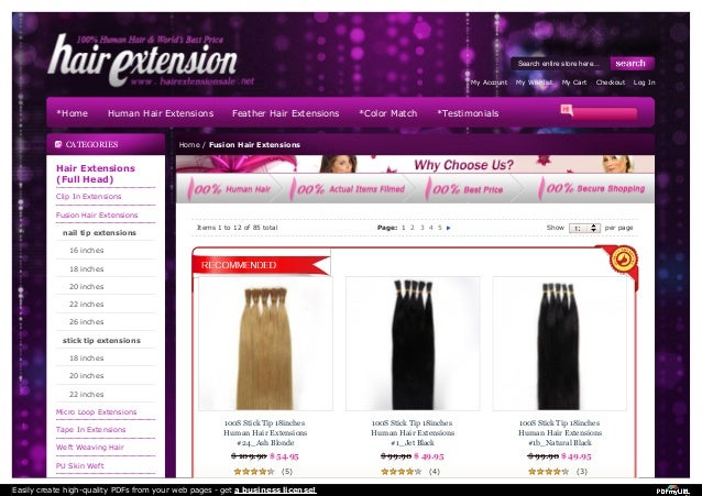 Fusion hair extensions online