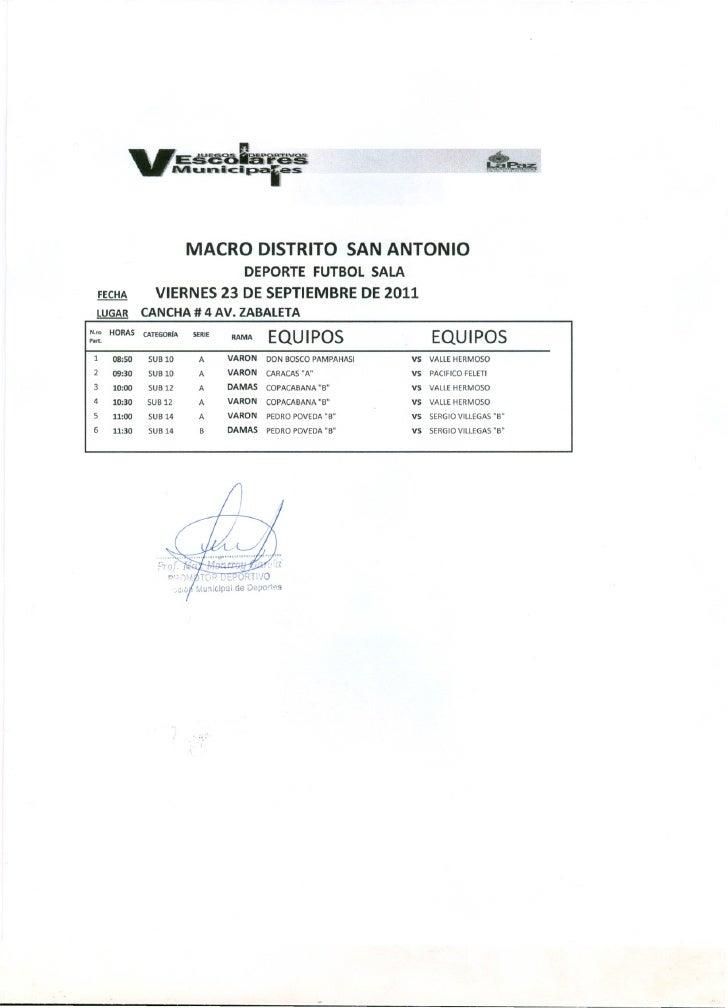 Futsal 23 septiembre