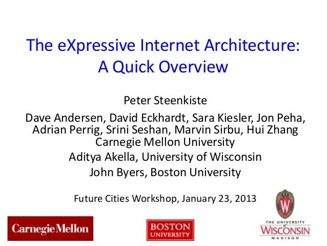 The eXpressive Internet Architecture:         A Quick Overview                    Peter SteenkisteDave Andersen, David Eck...