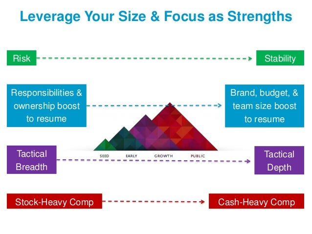 Leverage Your Size & Focus as Strengths Risk  Responsibilities & ownership boost to resume  Tactical Breadth  Stock-Heavy ...