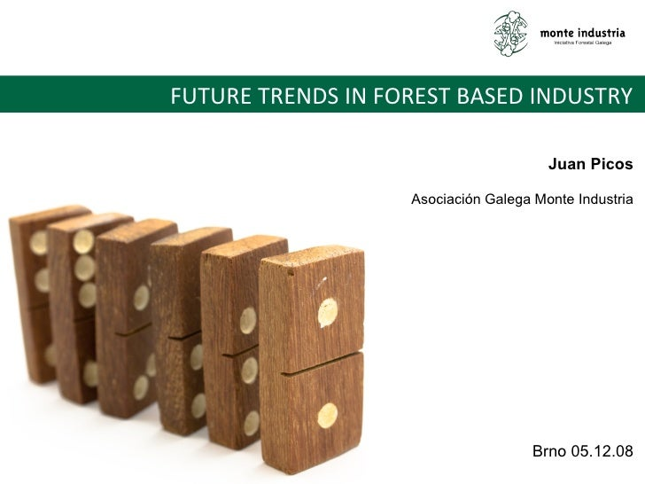 FUTURE TRENDS IN FOREST BASED INDUSTRY  Juan Picos Asociación Galega Monte Industria Brno 05.12.08