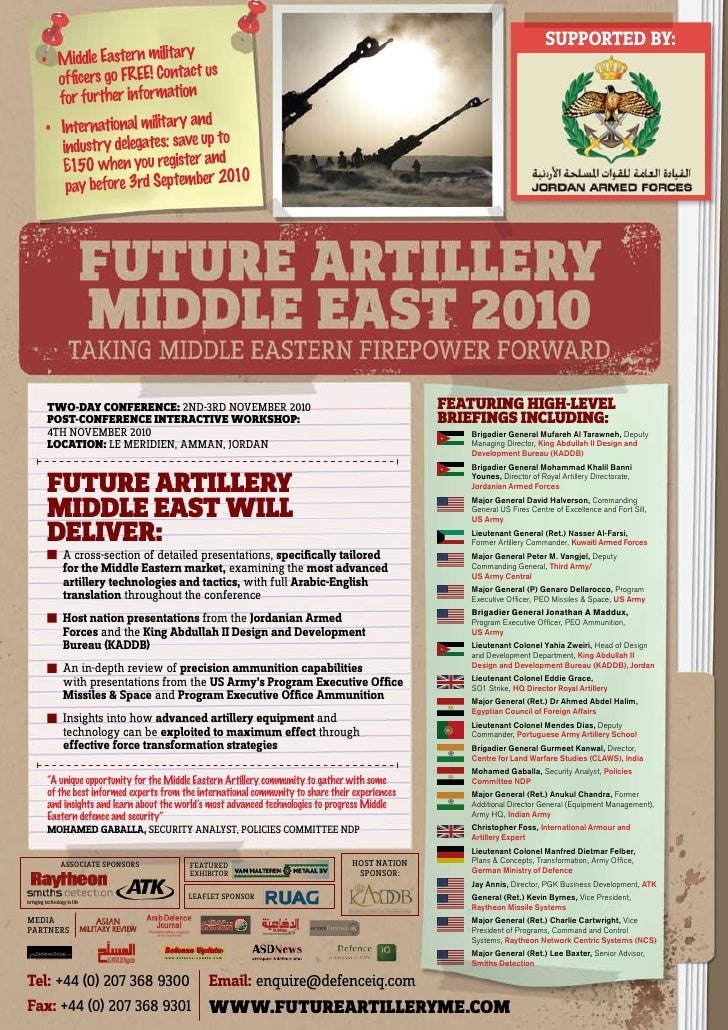 Future artillery middle east 2010 updated final brochure