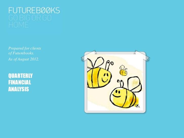 Prepared for clientsof Futurebooks.As of August 2012.QUARTERLYFINANCIALANALYSIS