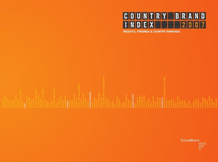 Future Brand 2007 Country Brand Index
