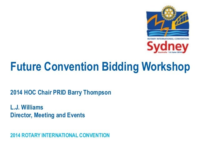 Future convention bidding workshop ppt