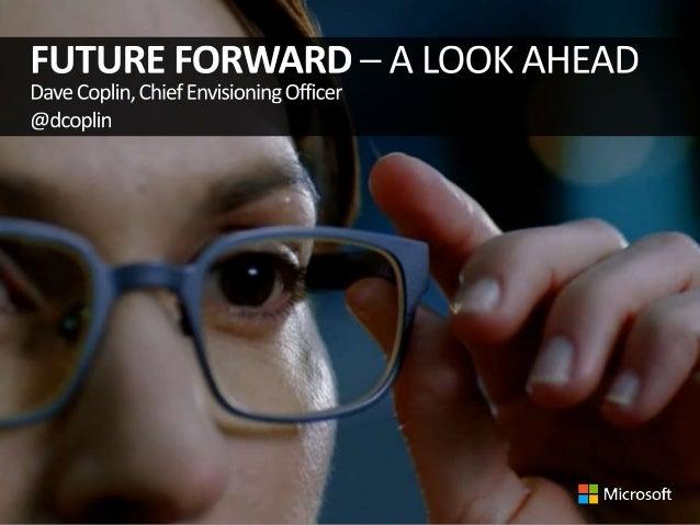 Data Protection 2013, Future Forward, Microsoft