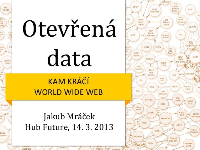 Otevřená  data    KAM KRÁČÍ  WORLD WIDE WEB    Jakub MráčekHub Future, 14. 3. 2013
