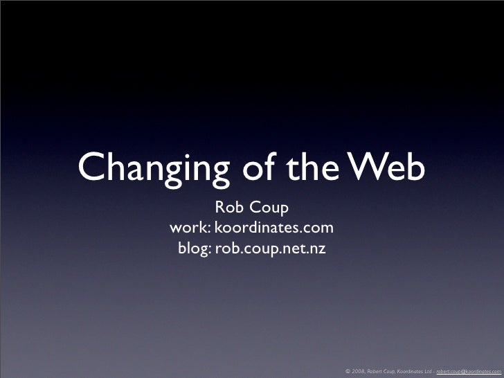 Changing of the Web