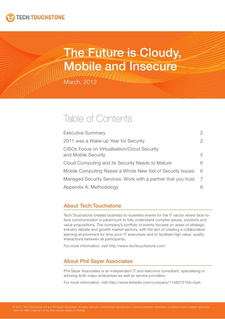 The Future is Cloudy,                                             Mobile and Insecure                                     ...