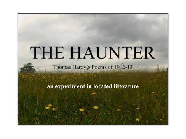 The Haunter - experiments in located literature and 'haunted' objects