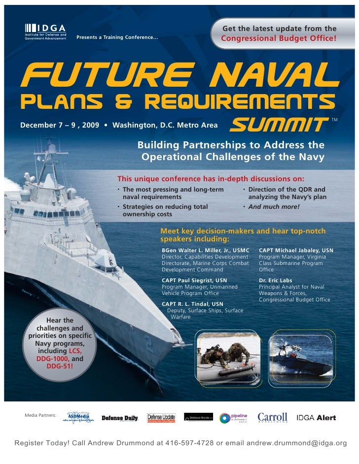 Future Naval Plans & Requirements Summit.Pd