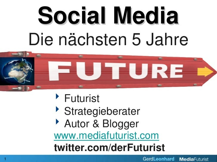 Next 5 years in Social Media / Naechsten 5 Jahre in Social Media (in German language)