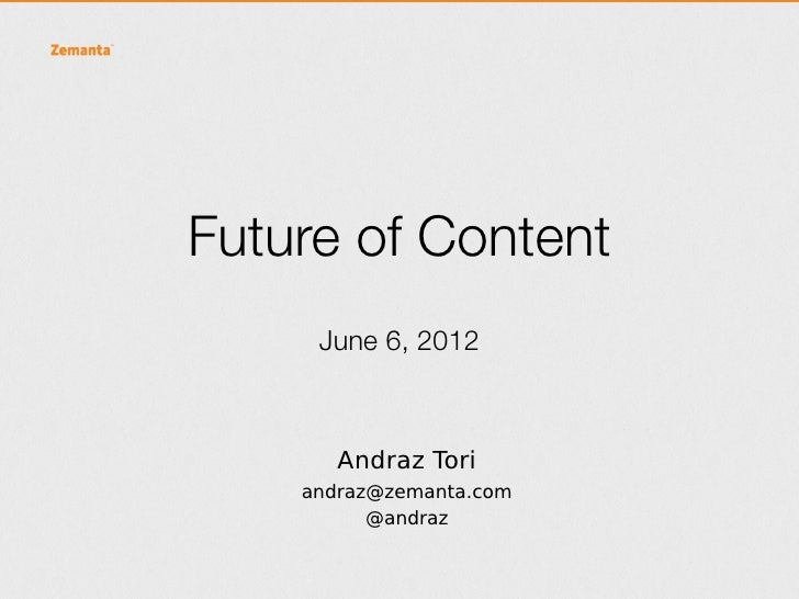 Future of content cration