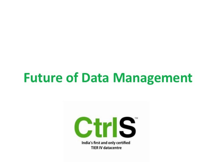 Future of data management
