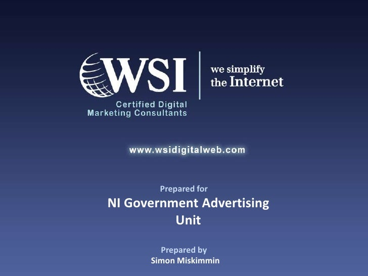 Future Of Digital Presentation For Ni Government Advertising Unit By Wsi Digital Web