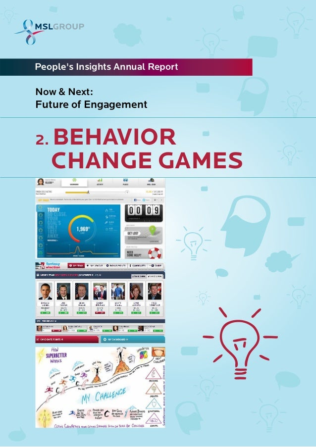2. BEHAVIORPeoples Insights Annual ReportNow & Next:Future of EngagementCHANGE GAMES