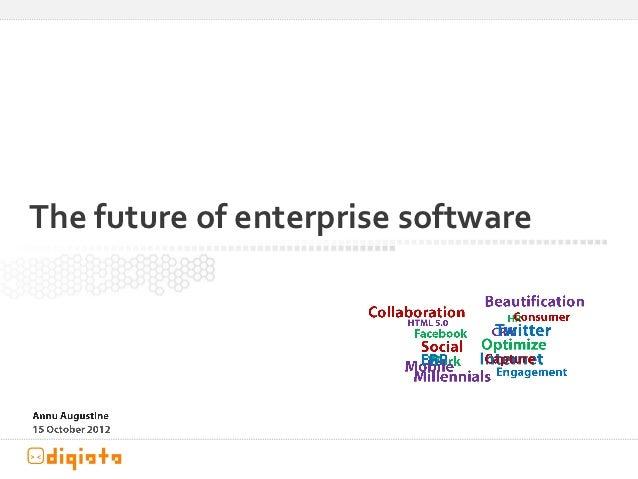 The future of enterprise software