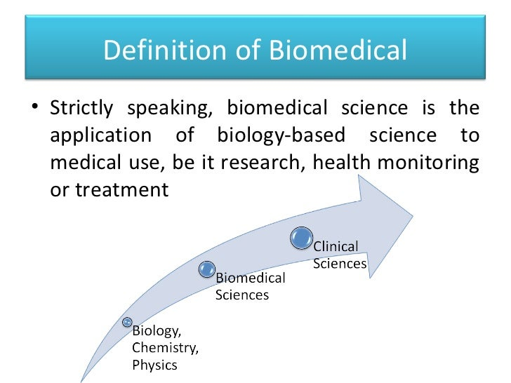 Biomedical Science research study definition