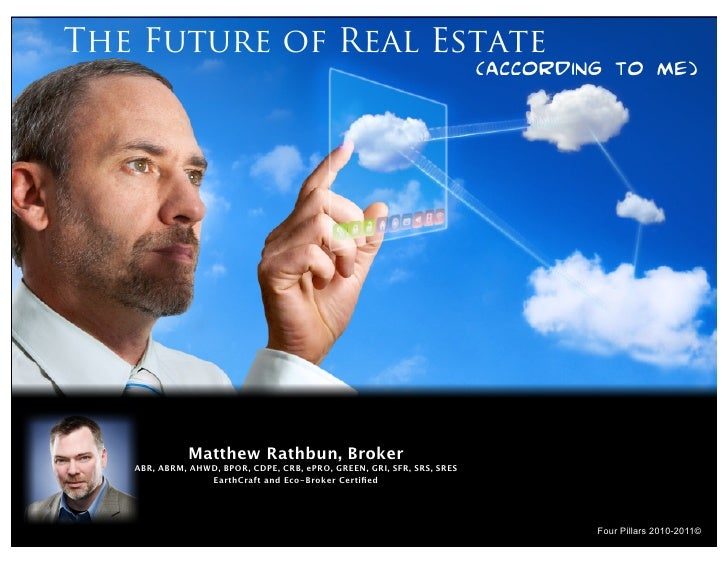 The Future of Real Estate                                                                         (according to me)       ...