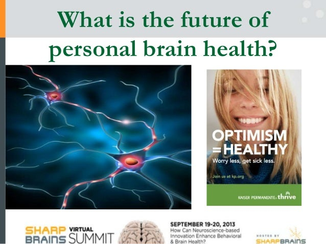 What is the future of per­sonal brain health?