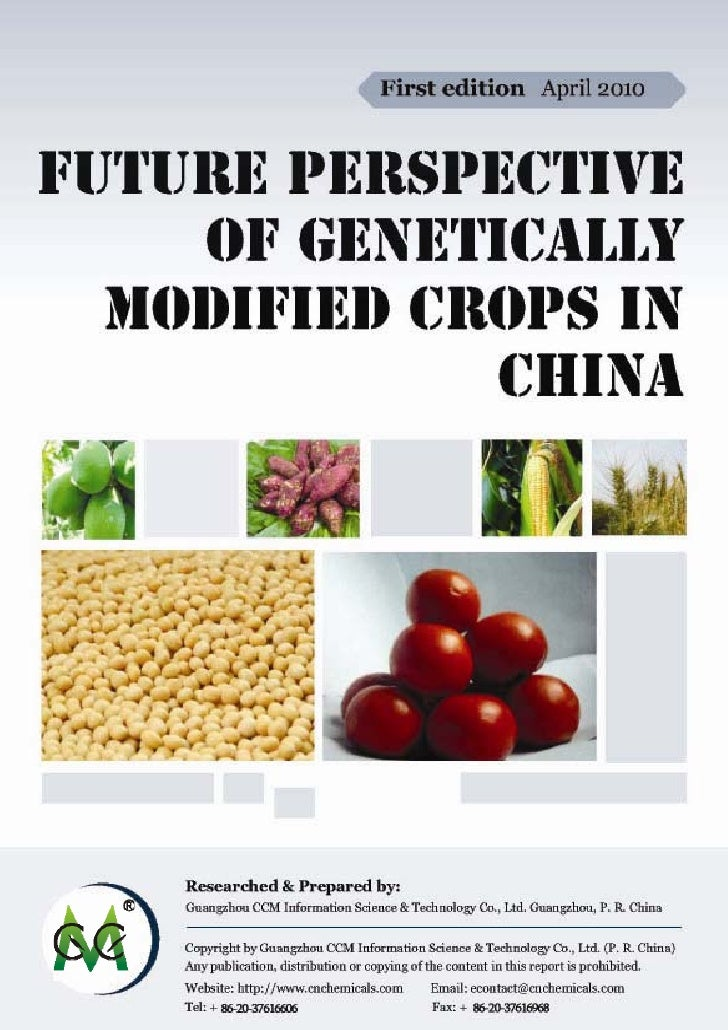 Future prospect of genetically modified crops