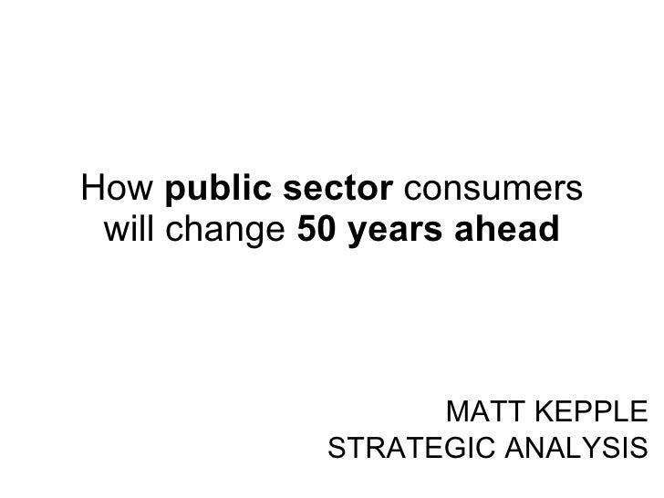 Future Public Sector Consumers
