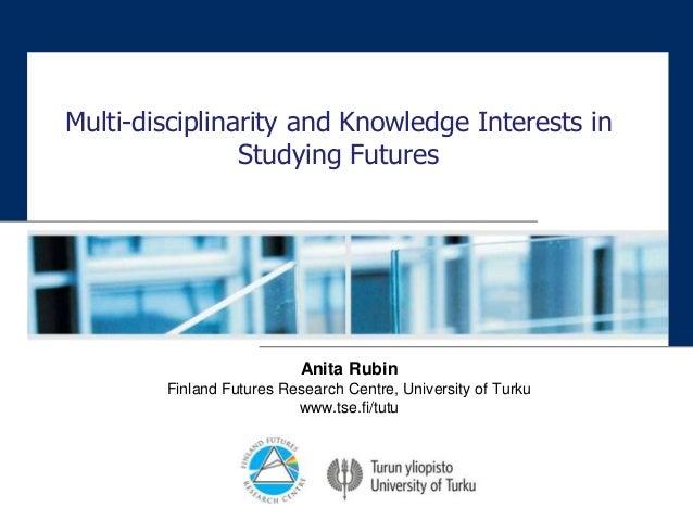 Futures 3 multidisciplinarity