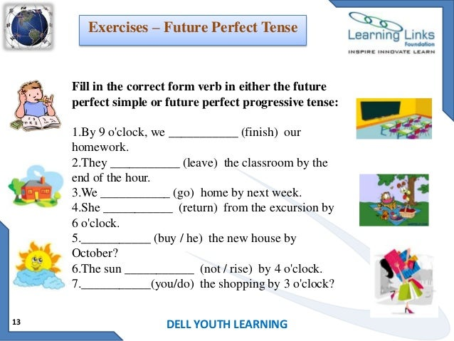 math worksheet : future tense : Future Continuous Tense Exercises For ...