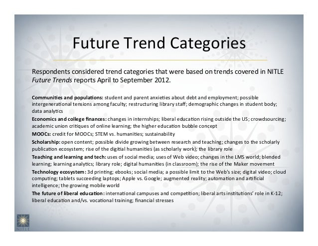 Future&Trend&Categories                                       &Respondents&considered&trend&categories&that&were&based&on&...