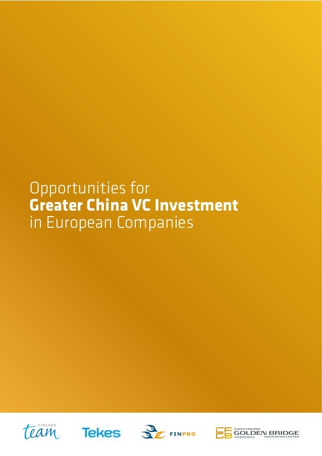 Opportunities for Greater China VC Investment in European Companies