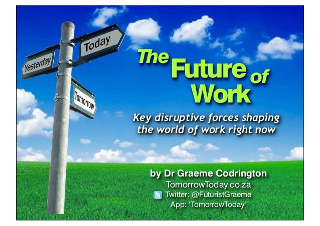 Future world of work presentation (for EXSA, Exhibitions Industry South Africa Convention)