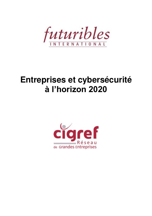 Entreprises et cybersécurité à l'horizon 2020